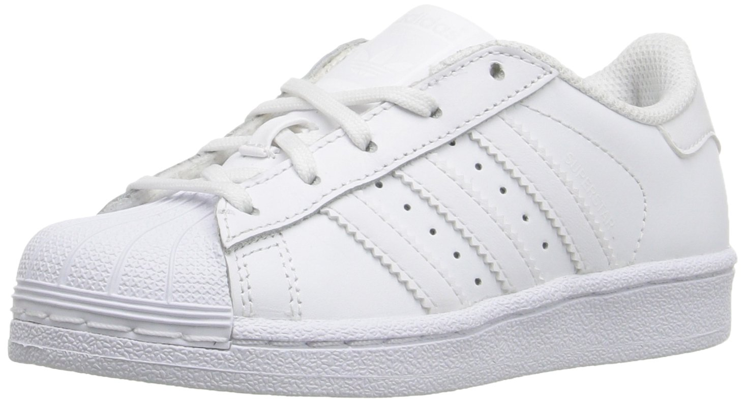 Adidas Kids' Superstar Foundation EL C Sneaker B01GFUZ7GU 2.5 M US Little Kid|White/White/White