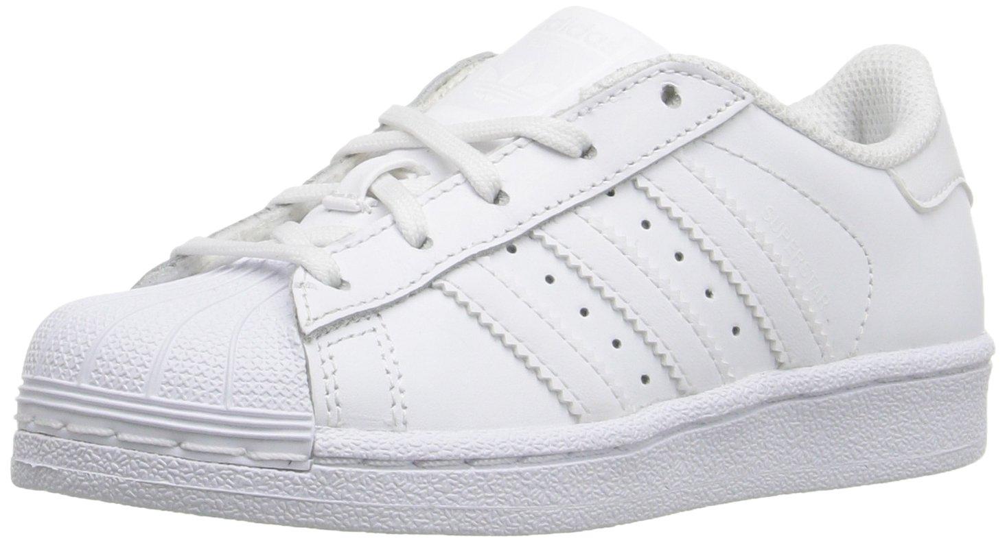 adidas Originals Superstar Foundation EL C Running Shoe, White, 1.5 M US Little Kid