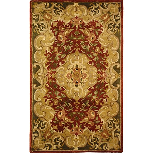 Safavieh Classic Collection CL234A Handmade Traditional Oriental Rust and Green Wool Area Rug (2' x (Rectangle Traditional Green Color)