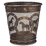 Gift Corral Small Waste Basket - Mini Horse - Black/bronze - Mini Horse by Gift Corral