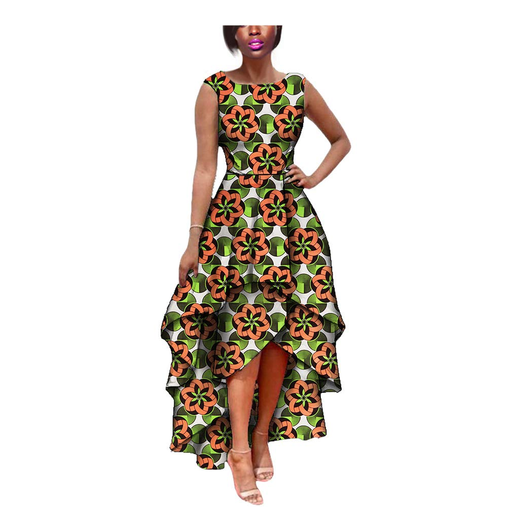 e34d0522bf6 African Women Dress Mermaid Prom Ball Gown Wax Fabric Girl Floral Formal  Skirt at Amazon Women s Clothing store