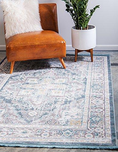 - Unique Loom Baracoa Collection Bright Tones Vintage Traditional Gray Area Rug (5' 5 x 8' 0)
