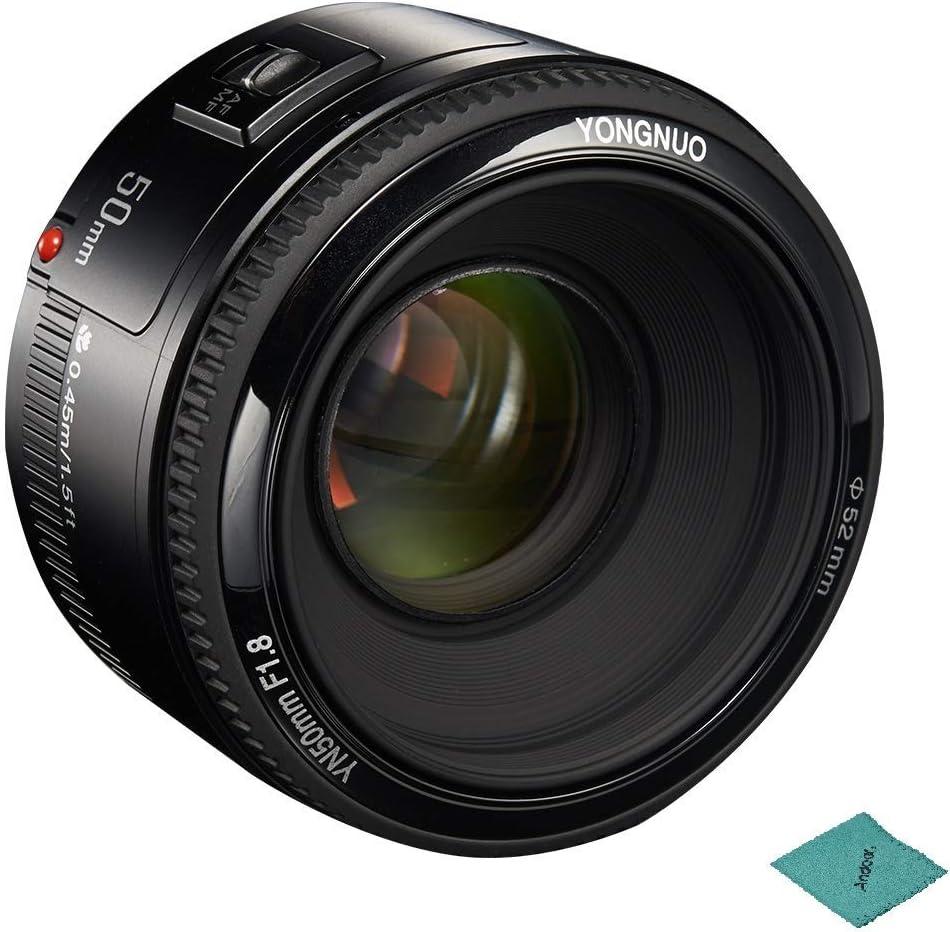 yongnuo YN50mm F1.8 Standard Prime Lens Large Aperture Auto Focus Lens Compatible with Canon EF Mount Rebel DSLR Camera