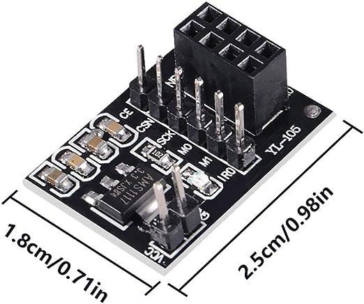2Pcs Socket Adapter Plate Board 8Pin NRF24L01+WIRELESS Transceive Module vc