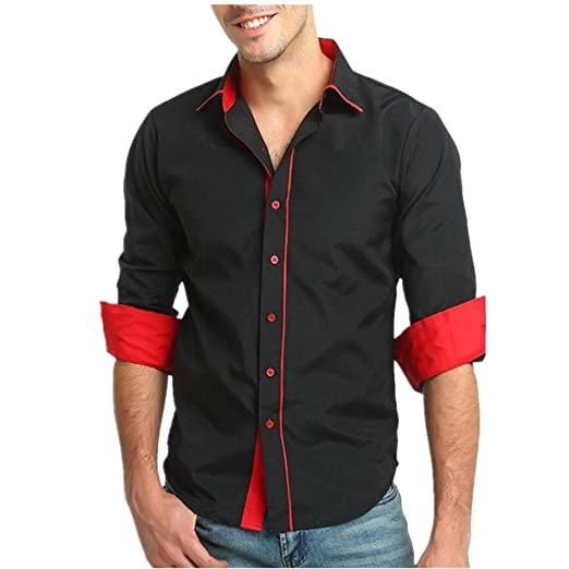 79d0e4284d Pervobs Long Sleeve Shirts, Big Promotion! Men's Autumn Casual Long ...