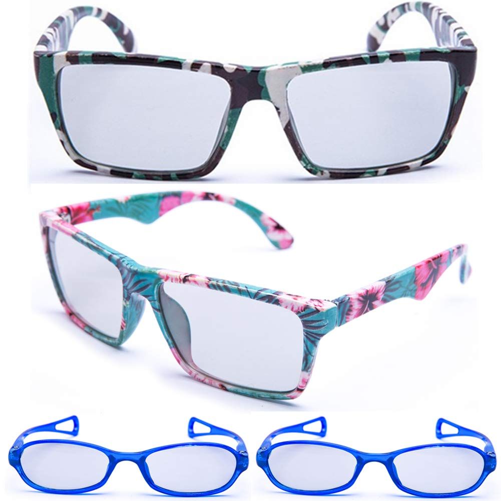 Carefully Designed Adult and Kids Sized Passive 3D Glasses for LG, Panasonic, Sony, Vizio, Toshiba, Philips, JVC and All Passive 3D TVs & RealD 3D Cinema Glasses (RealD) 4 Pack