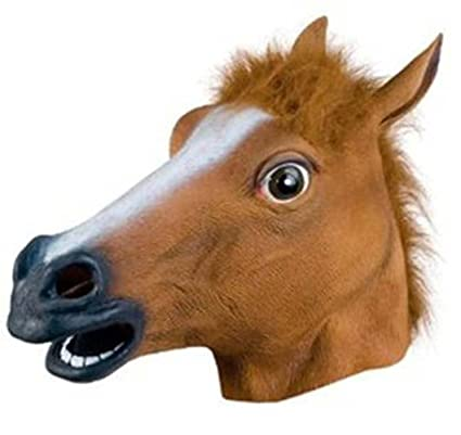 abulu halloween horse head mask