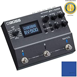 Boss RV-500 Reverb Pedal with Microfiber and 1 Year Everything Music Extended Warranty