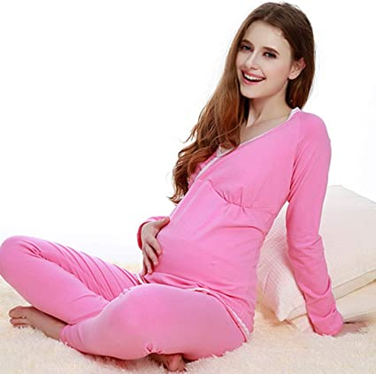 Pijama de algodón para Mujeres Embarazadas, Ropa de Dormir de ...