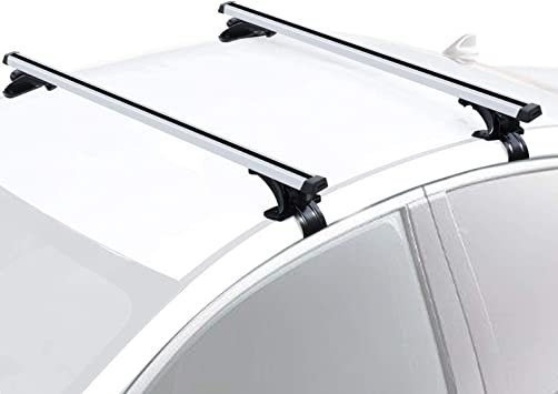 Amazon Com Fivklemnz 47 Roof Rack Cross Bars One Pair Adjustable Aluminum Cargo Carrier Rooftop Luggage Crossbars Fit For Most Vehicle Without Roof Side Rail Automotive