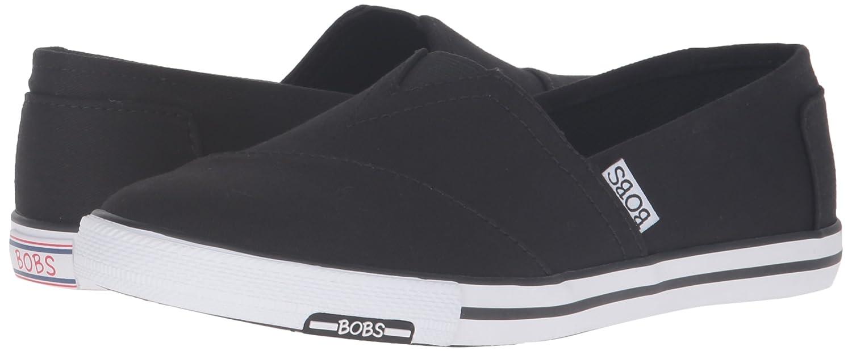 a07ef0a714 Amazon.com | Skechers BOBS Women's Lotopia Pleasantville Flat, Black, 6.5 M  US | Fashion Sneakers