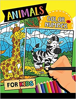 Animals Color by Number for Kids: Easy and Fun Activity Learning ...