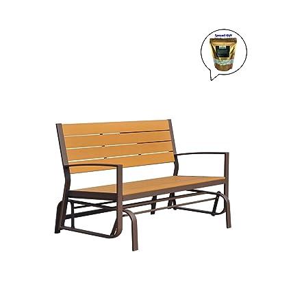 amazon com allgoodsdelight365 patio porch glider bench 2 person