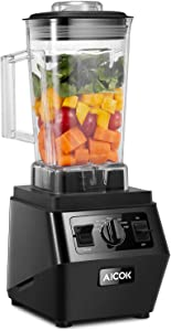 Blender, Professional High-Speed Countertop Blender with 1400W Base, 70oz Pitcher for Family Size Frozen Drinks and Smoothies, Easy Self-Cleaning, 35000 RPM, Built-in Pulse, Aicok