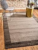 Unique Loom Del Mar Collection Contemporary Transitional Light Brown Area Rug (5′ x 8′)