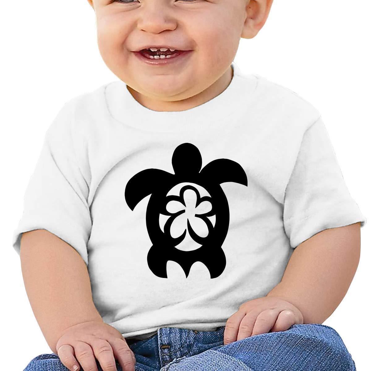 Hawaiian Sea Turtle Clipart Toddler Baby Newborn Short Sleeve Tee Shirt 6-24 Month Soft Tops