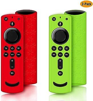 Schutzhülle Für Fire Tv Stick 4k Silikon Für Fire Tv Cube Fire Tv 3 Gen Kompatibel Mit Alexa Voice Fernbedienung Rutschfest Stoßfest Green And Red Audio Hifi