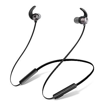 Auriculares Bluetooth, JIAMA Cascos Bluetooth magnéticos y deportivos K6, Banda para el Cuello Estilo