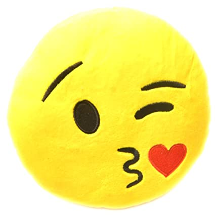Buy Chords kissable Smiley Emoticon stickable plush soft toy cushion ...