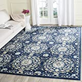 Cheap Safavieh Evoke Collection EVK252A Navy and Ivory Area Rug (8′ x 10′)