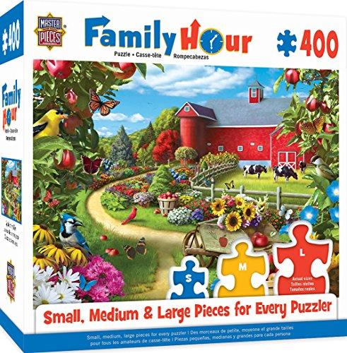 MasterPieces Family Hour Apple of My Eye Farm with Barn Scene Jigsaw Puzzle, 400-Piece