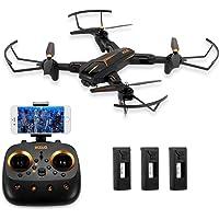 Goolsky VISUO XS812 RC Drone 2.4G GPS 5G WiFi 1080P Caméra Grand-Angle Pliable WiFi FPV Altitude Hold RC Drone avec 3 Batteries