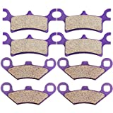 SCITOO Front and Rear Brake Pads fit 2008-2012 Polaris Sportsman 500 4x4 HO 2010 2011 Braking Pads Set
