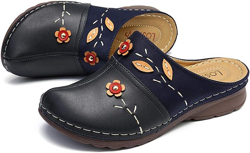 Sandales compensées à Enfiler pour Femme en Cuir PU Style
