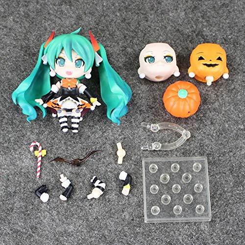 HAPP TRIX Hatsune Miku Figure 4''10cm Nendoroid Hatsune Miku Halloween Ver. #448 PVC Action Figure Model Collection Toy Hatsune Miku FigureWith Box -