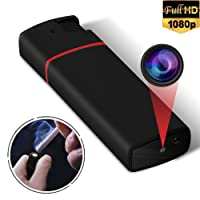 Lighter Spy Camera,Yilutong 1080P Portable Mini Security Camera Nanny Cam Hidden Video Recorder with Infrared Night Vision and Loop Recording (support 32G SD card,NOT INCLUDE)