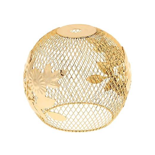 Lámpara de techo con diseño de jaula dorada para bricolaje ...