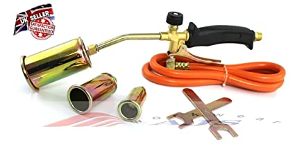 Propane Butane Gas Torch Burner Hose Regulator Blow Roofers Plumbers Roof  kit HT-