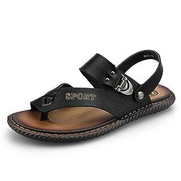 Sandales Cuir En Mode Thong Apragaz Tongs De Microfibre Hommes RqLScj534A