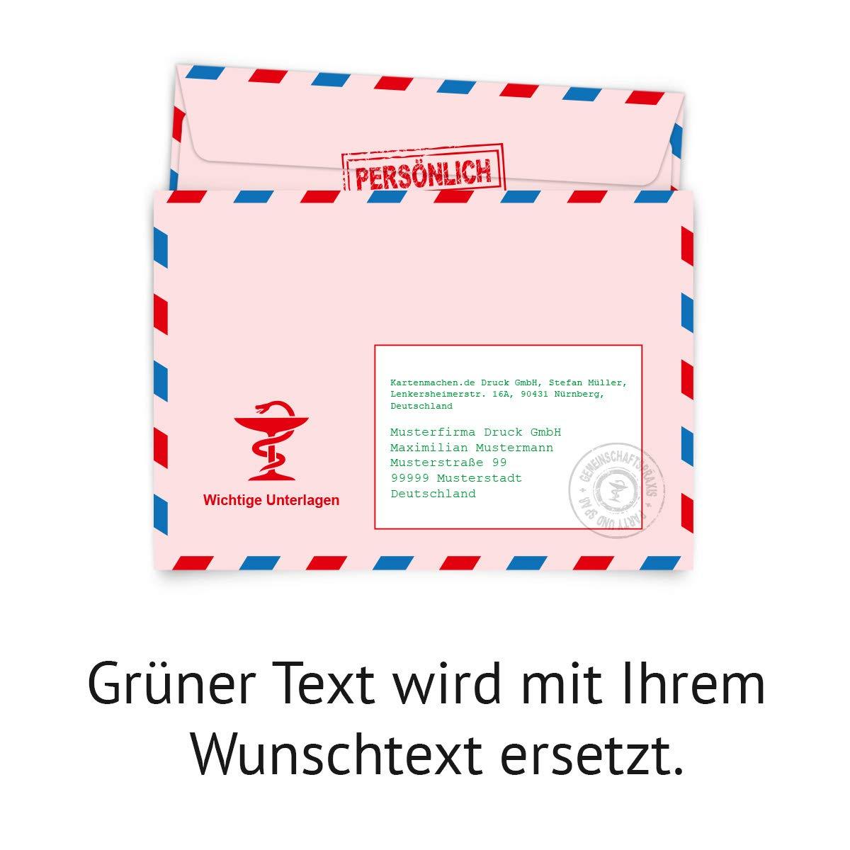 100 x Personalisierte Umschläge bedruckte KuGrüns - - - Rezept - DIN C6 B07JNYWC49 | Genial  | Kostengünstiger  | Neuer Eintrag  39fade