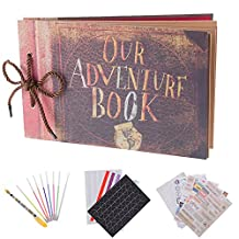 Our Adventure Book Scrapbook Photo Album,Expandable,11.6x7.5Inches,80 Pages, Album Storage Box and DIY Accessories Kit,Gift for Festival,Birthday,Anniversary,Wedding,Graduate Gifts and Travel Record