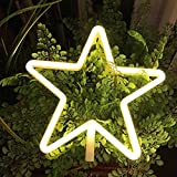 Neon Light,LED Star Sign Shaped Decor Light,Wall Decor for Chistmas,Birthday party,Kids Room, Living Room, Wedding Party Decor (warm white)