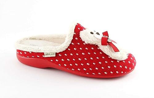 Grünland Alin CI0967 Zapatillas Rojas Oso de Peluche de la señora 40: Amazon.es: Zapatos y complementos