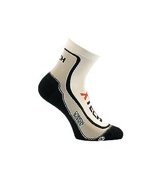 XTech Calcetines Térmicos Ciclismo Montaña O MTB; Outdoor Microfibra Ligeros Unisex Blanco blanco Talla: