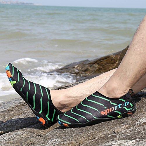 Plage Baignade Bornbayb Slip Sneakers noir de D'eau Rivière Caoutchouc Non Chaussures en Plein en Surf Hommes Natation D'été Air Vert 8qY8r