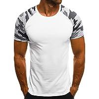 MEIbax Camisetas de Manga Cortas para Hombre con Cuello Redondo Originales Estampada Casual Divertidas Camisa Interior termicas Camisetas de Tirantes Manga Corta Blusa Tops T-Shirt Pullover Abrigos