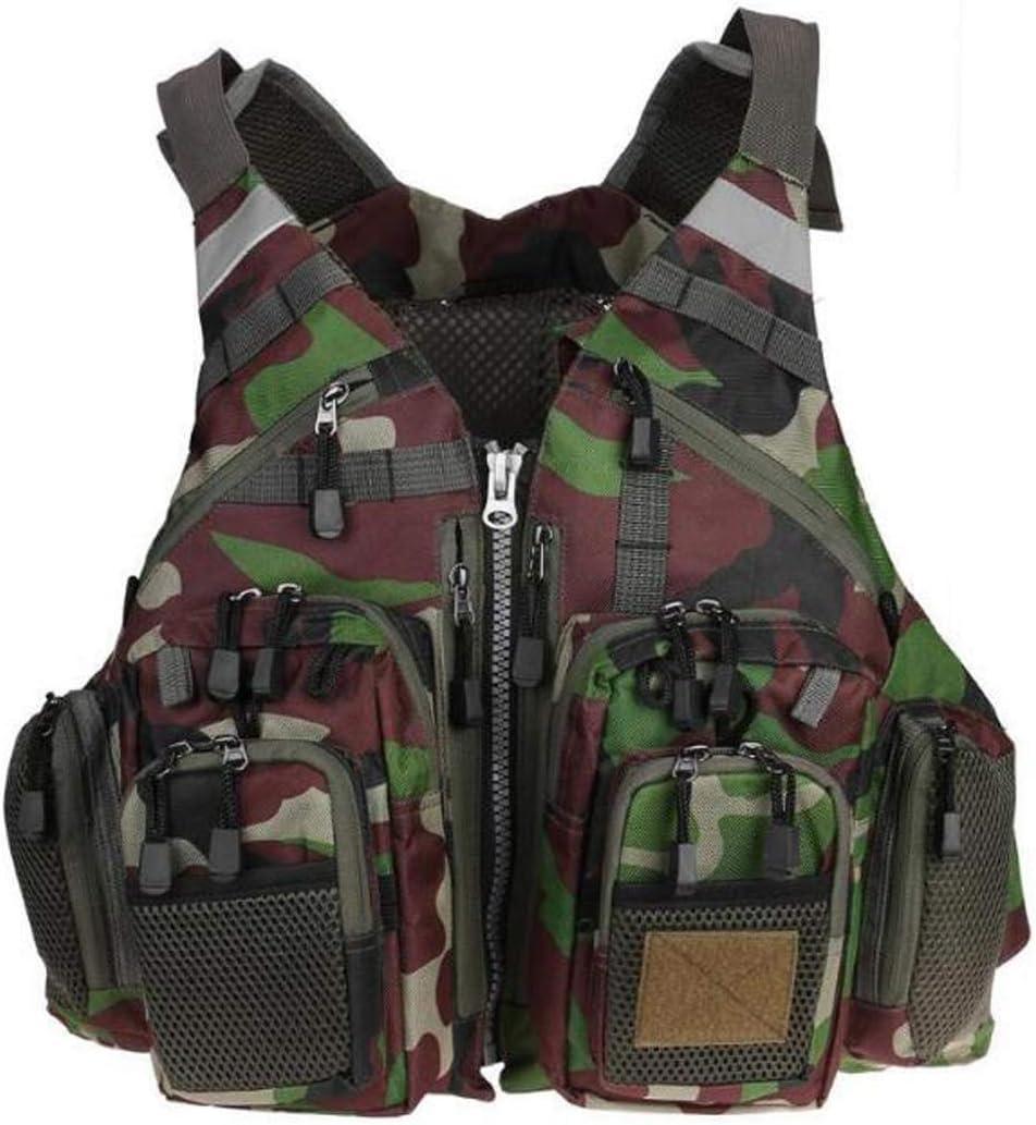COEWSKE Gilet de P/êche Taille R/églable Multi Poches Veste de P/êche Costume Chasse Camping Photographie pour Les Hommes et Les Femmes
