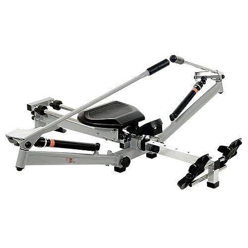 Christopeit 9904 - Máquina de remo para fitness (plegable), color negro/plata