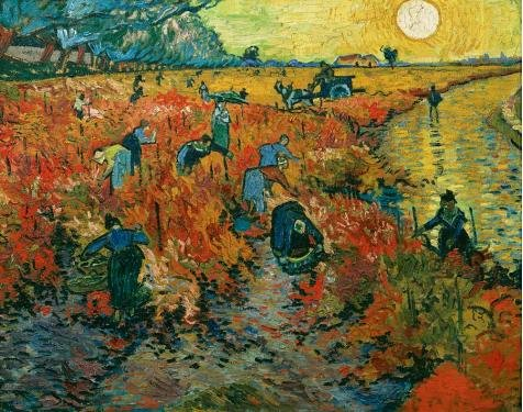 Van Gogh Couple Costume (Oil Painting 'The Red Vineyard-Vincent Van Gogh,1888' Printing On Perfect Effect Canvas , 20x25 Inch / 51x64 Cm ,the Best Laundry Room Artwork And Home Decor And Gifts Is This High Resolution Art Decorative Canvas Prints)