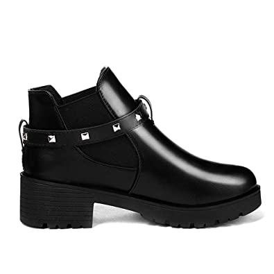 3697aa9c570 ZYUEER Femmes Boucle Dames Chaud Bottes Bottines Chaussures à Talons Hauts