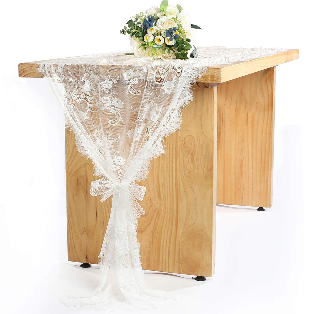 Amazon 60 X 120 Inch Vintage Wedding White Lace Tablecloths
