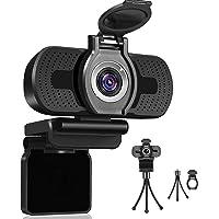 Dericam Webcam, HD 1080P Webcam with Microphone, USB Webcam for Live Streaming, Computer Web Camera for PC Mac Laptop…