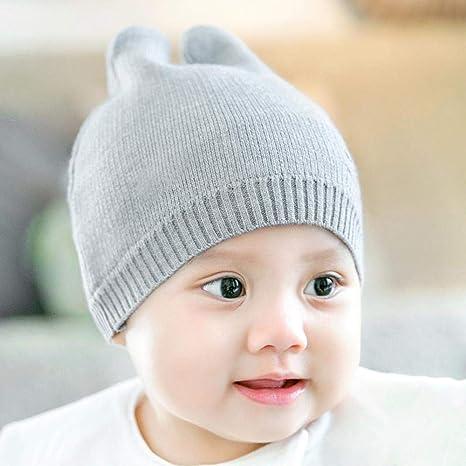 Myzixuan Caída de Sombreros Gorras Punto bebé fetales Gorras de Invierno recién Nacido bebé algodón Gorras