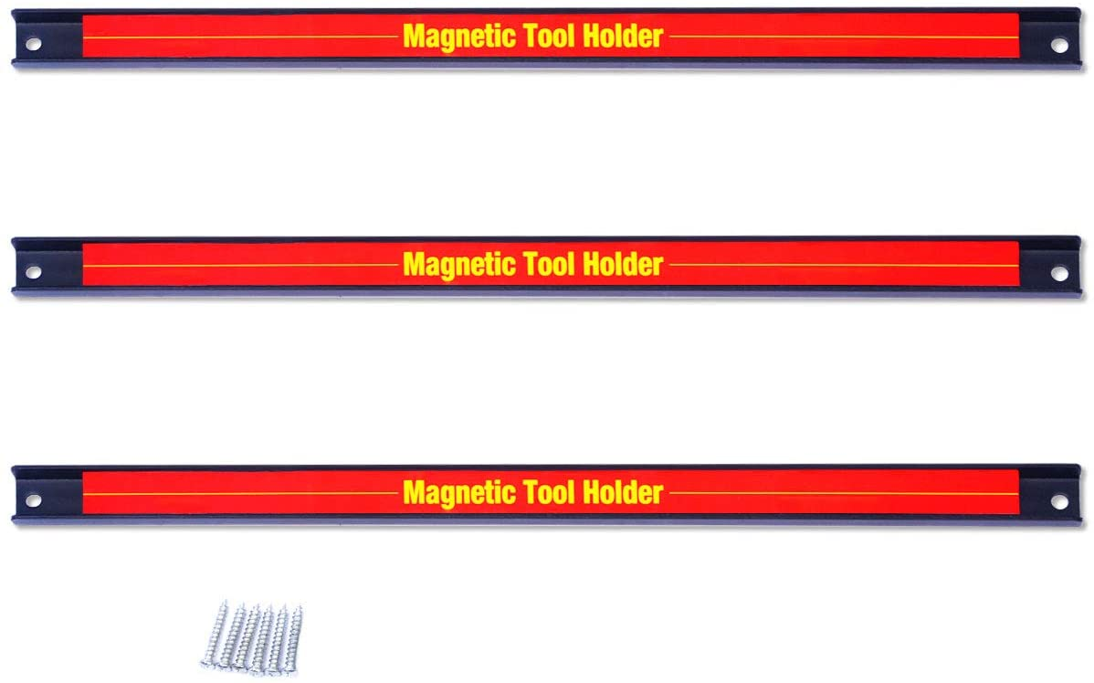 Goplus 3 Piece 18 Inch Magnetic Tool Holder Bar