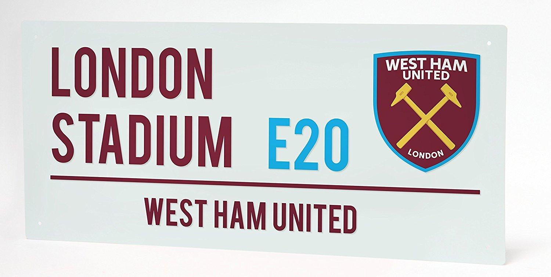 West Ham United FC. - Cartel metálico, diseño con texto