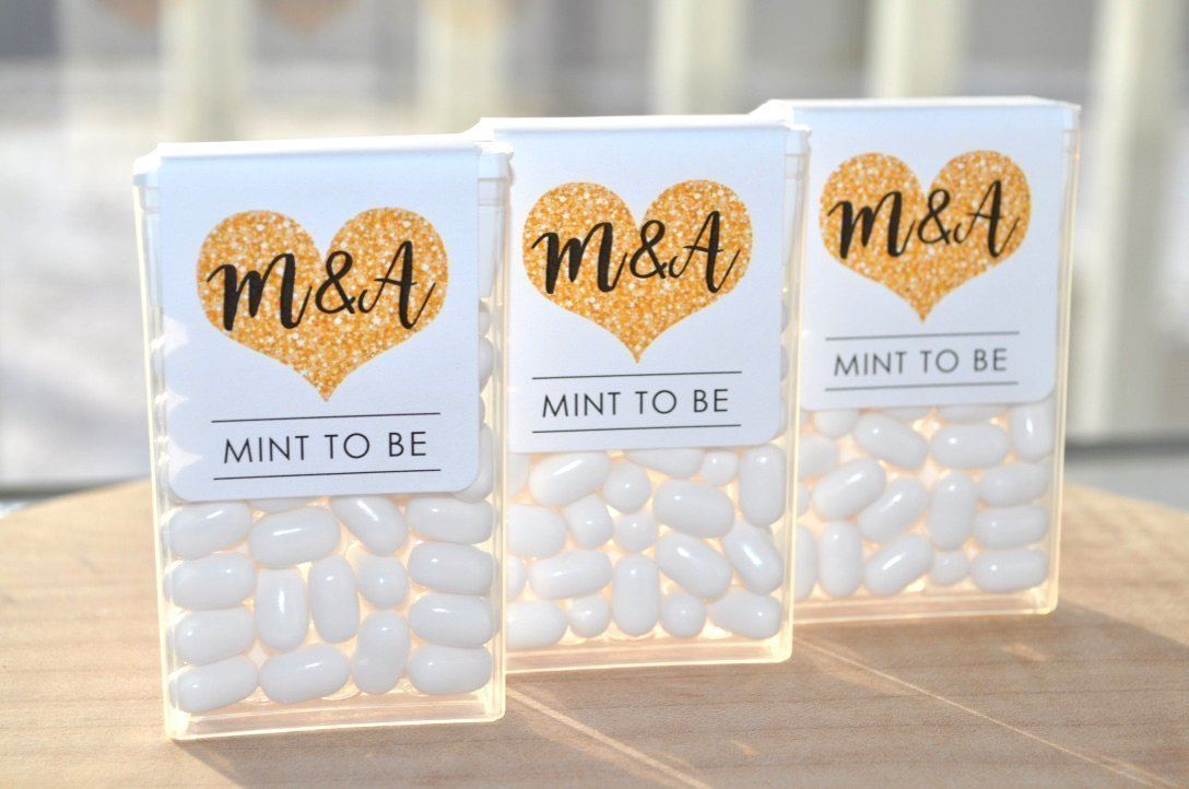 Amazon Tic Tac Labels Mint To Be Bridal Shower Favors Wedding